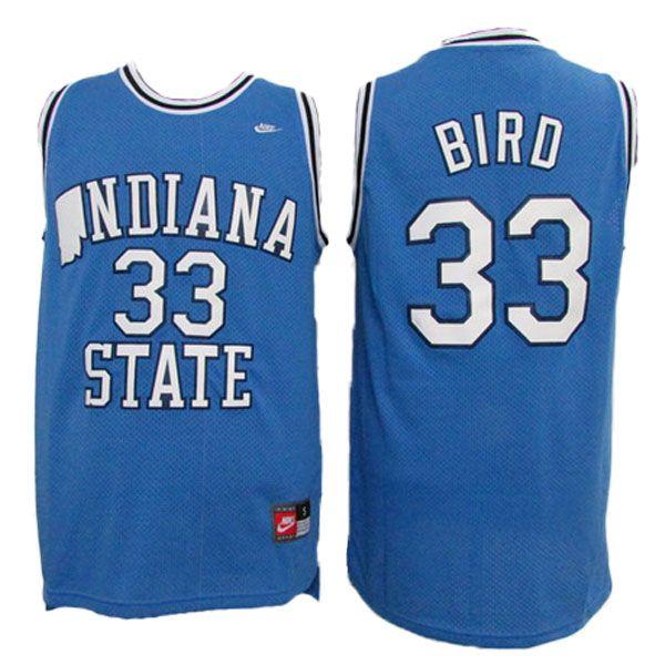 04954d1ae161 ... Larry Bird Indiana State Jersey - NCAA Indiana State Sycamores Jersey  -19.88 Larry Bird Indiana State NCAA Jersey 33 Blue College University  Basketball ...