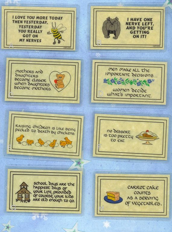 CHOICE Kids Food Eating Theme Joke Magnet Tags Signs Refrigerator HUMOR Laminated Deal of The Day