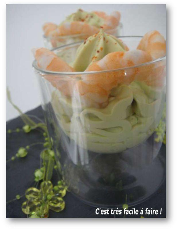 Chantilly d'avocat  (Accompagne très bien crevettes et saumons fumés en verrines, cheesecakes, cupcakes ou terrines)