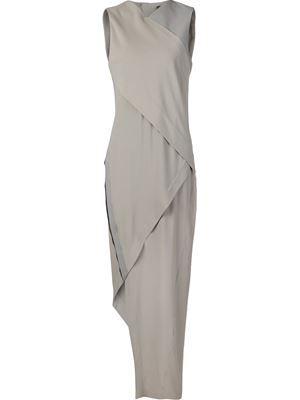 asymmetric evening dress