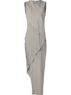 asymmetric evening dress