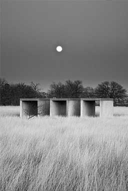 fifteen concrete works in marfa, texas by donald judd.