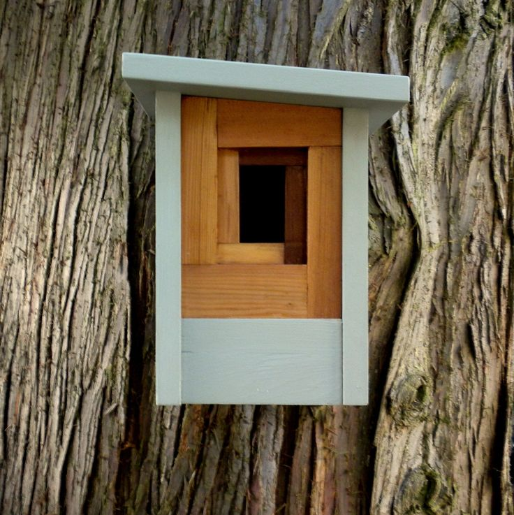 Birdhouse, modern craftsman — The Camera Shutter. From Etsy store Twig & Timber.