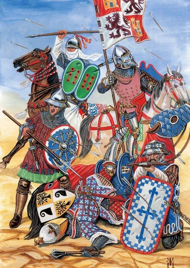 The Battle of Aljubarrota was fought between the Kingdom of Portugal and the Crown of Castile on 14 August 1385. Forces commanded by King John I of Portugal and his general Nuno Álvares Pereira, with the support of English allies, opposed the army of King John I of Castile with its Aragonese, Italian and French allies, in central Portugal. It was a decisive victory for the Portuguese, ruling out Castilian ambitions to the Portuguese throne, ending the 1383–85 Crisis.