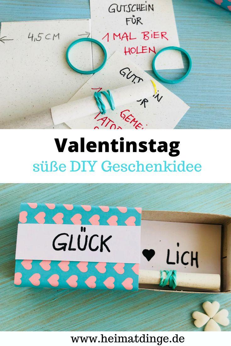 Valentinstag Geschenk für ihn: Love Letter Box als perfektes DIY Geschenk   – heimatdinge – Bastel- und Upcycling Ideen für Kinder & Familien