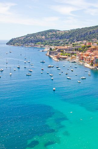 "Eze in the French Riviera - Sweeping Mediterranean views in this town on the French Riviera, described as an ""eagle's nest"" because it's perched so high up on a c..."