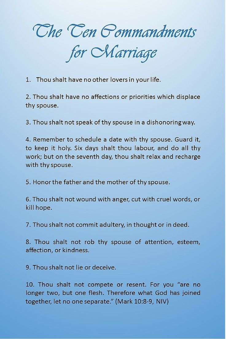 The Ten Commandments for Marriage: http://www ...