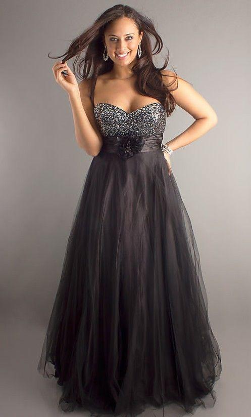 Plus size black dress 14W-26W