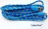 CablesFrLess (TM) 10ft Braided Tangle Free Flat High Quality Super Durable Micro B USB Charging / Data Sync Cable fits Android Phones and Tablets Samsung Galaxy S4 S3 Reverb Note Google Nexus HTC One Kindle Fire HD Touch Nokia Lumia Acer LG G2 Optimus Pantech Blackberry Motorola Moto X Sony Ericsson ZTE etc (Blue) Gift Idea - #10FT, #Acer, #Android, #Blackberry, #Blue, #Braided, #Cable, #CablesFrLess, #Charging, #Data, #Durable, #Ericsson, #Fire, #Fits, #Flat, #Free, #Galaxy,