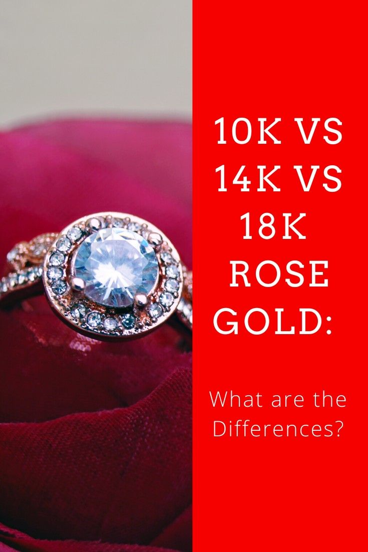 10k Vs 14k Vs 18k Rose Gold What Are The Differences Rose Gold 18k Rose Gold Choosing Wedding Rings
