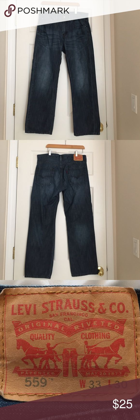 Men's Levi  Men's Levi Jeans. Almost like new! Style 559.       W33, L30. Bought from Macy's. Levi's Jeans Straight