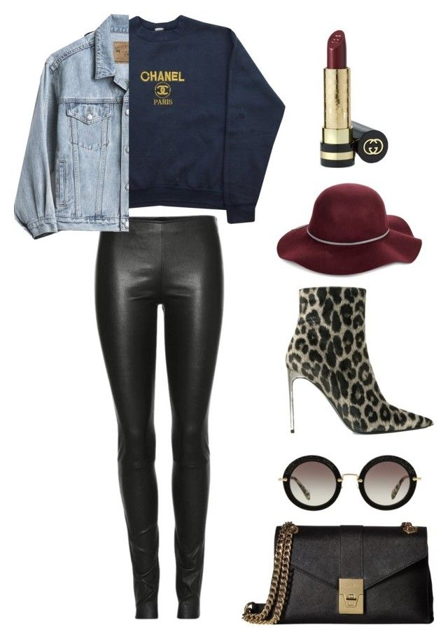 """Wear Chanel on the rainy days"" by csmarcsi on Polyvore featuring Chanel, The Row, Calvin Klein, Gap, STELLA McCARTNEY, San Diego Hat Co., Miu Miu and Gucci"
