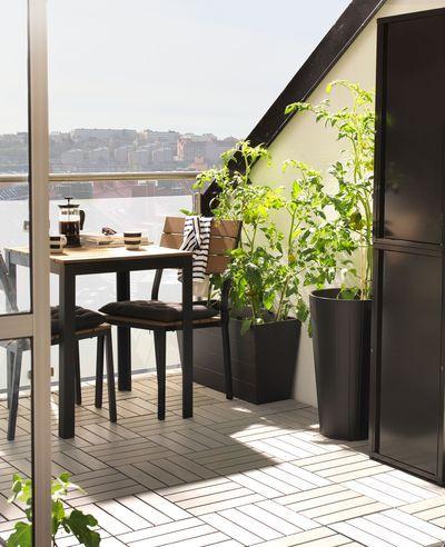 Caillebotis pour la terrasse