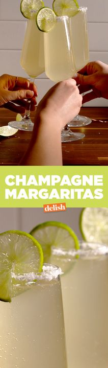 Champagne + Margarita = Boozy match made in heaven. Get the recipe from Delish.com.