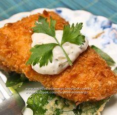 Ingredientes: 6 filés de merluza, mas pode ser outro peixe sal a gosto pimenta do reino a gosto Uma pitada de orégano suco de...