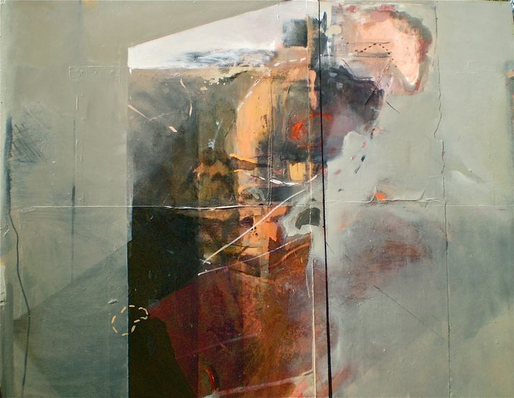 Escarpment, 2007, oil and mixed media on board 98x84 cm by Elaine d'Esterre at…