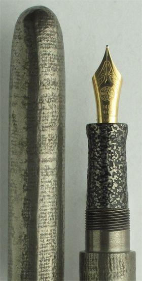 Nakaya Long Cigar Nuno Kise Silver Tin Fabric Fountain Pen
