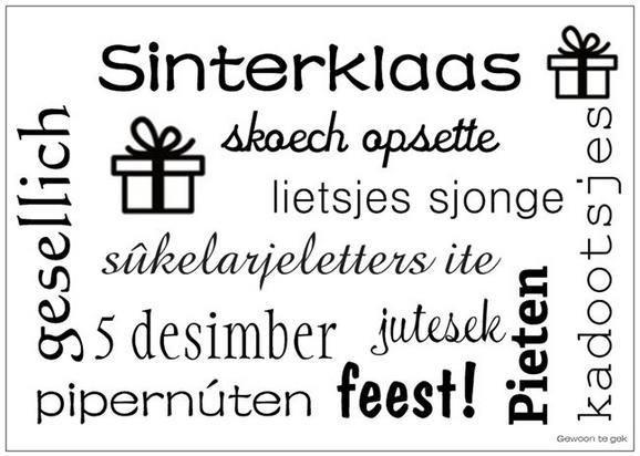 Sinterklaas interieurkaart A6 | KERST/KRYST/SINT | Gewoon te gek