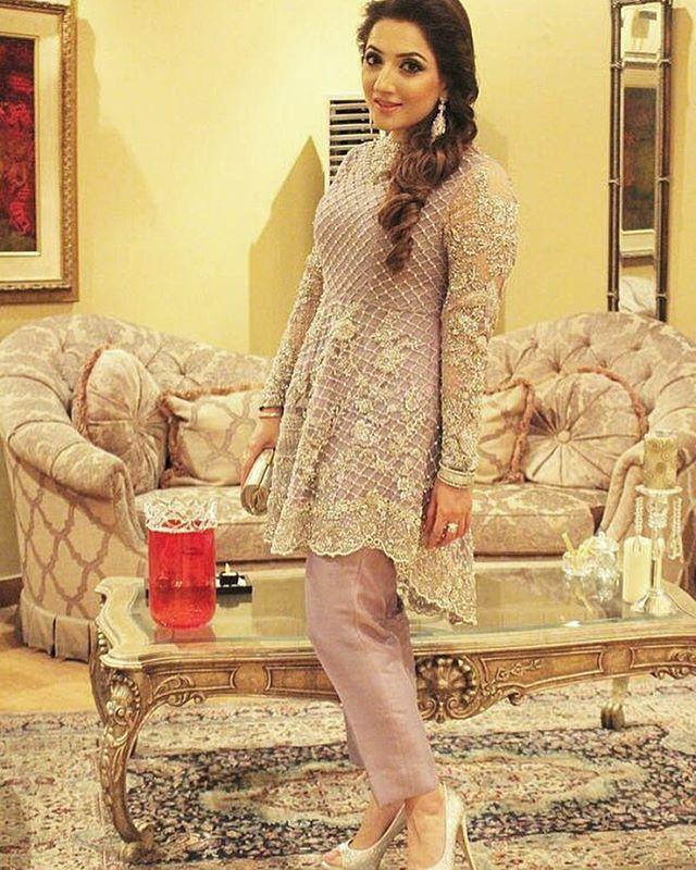 Eman Waseem looks radiant as ever in our lilac peplum ✨✨ #suffusebysanayasir #lilac #stuning