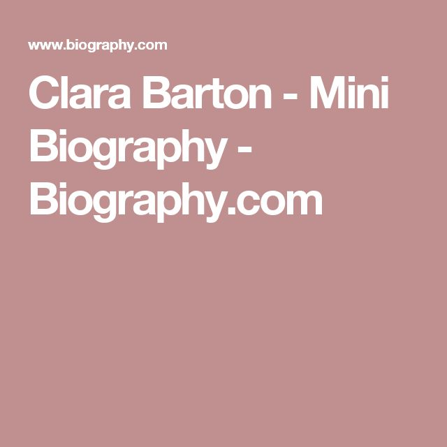 an introduction to the life of clara barton Clara barton was a benevolent, fearless woman from the time she was a little girl to a grown woman she cared for people all of her life she was determined to nurse the injured during the.