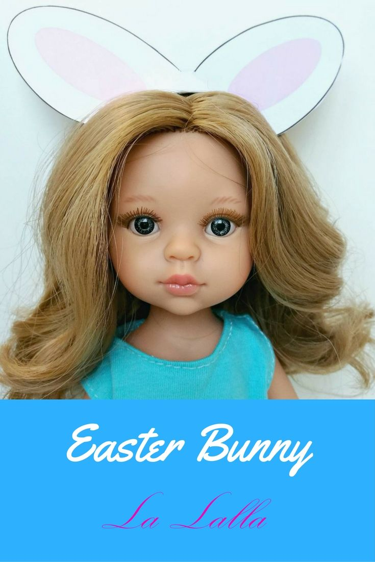 Doll that looks like your child. Easter bunny. #easter #bunny #gift #doll #toys #mint #dress #friends #besties #dressfordoll #birthdayidea
