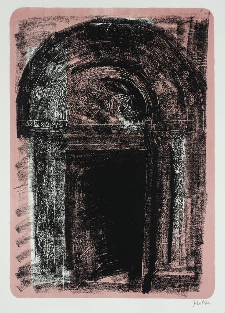 John Piper (1903‑1992) 1. Kilpeck, Herefordshire: the Norman South Door From A Retrospect of Churches 1964 Lithograph on paper