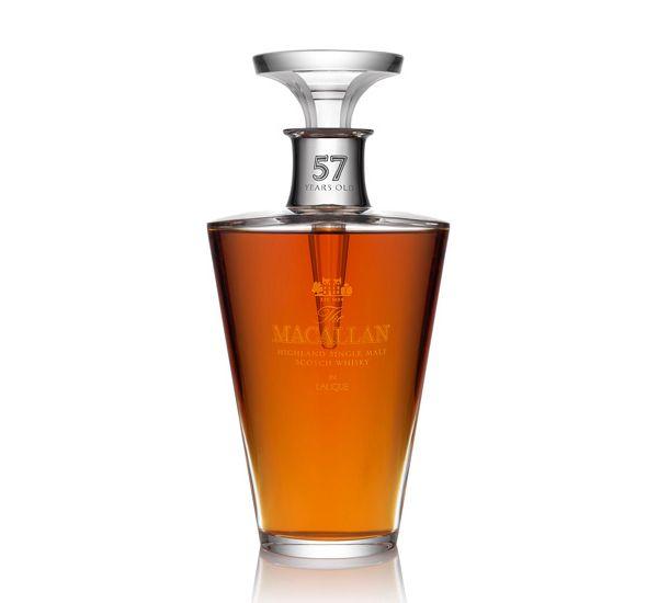 Avaliada em US $ 15.000 , foi desenhada pelo lendária casa francesa de cristal Lalique , exclusivamente para A Macallan The Finest decanter Corte contém um raro uísque de 57 anos ,single  malte. Uma edição limitada de apenas 400 garrafas que foram produzidas.