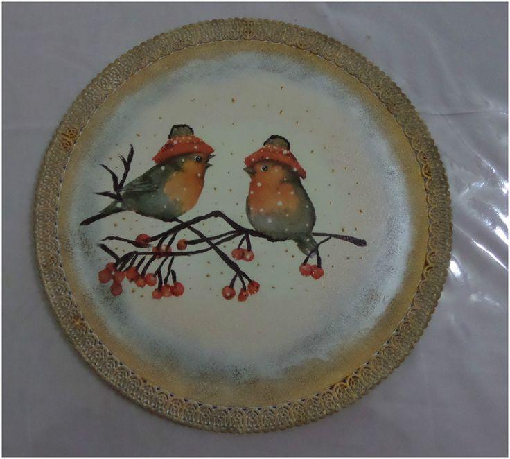 piatto con uccellini