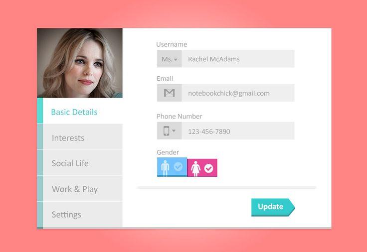 Profile Tabs Widget Design