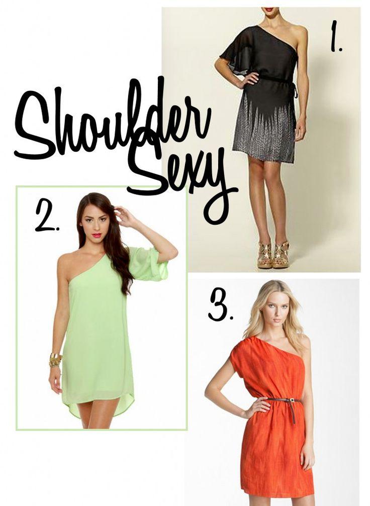 Sexy Shoulder Dresses! :)