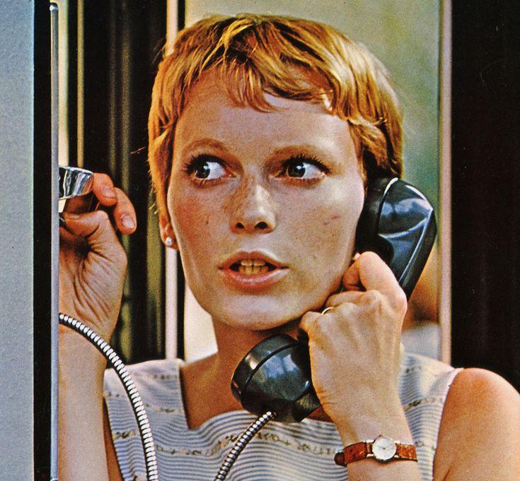 """Mia Farrow (La semilla del Diablo 1968) Estilo """"pixie"""""""