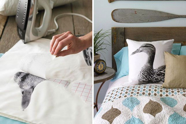 30 Creative Ways to Repurpose Photos | Brit + Co- tells how to transfer picture to cloth