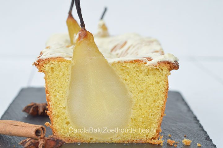 kardemom cake met peren, Yvette van Boven, homemade winter, perencake, herfstcake, kardemomcake, cake met fruit, Home made, witte chocolade,