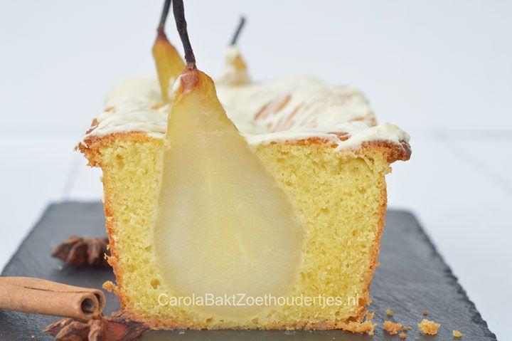Kardemom cake met peren - Carola Bakt Zoethoudertjes