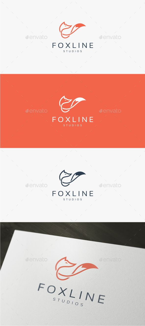 Fox Line  Logo EPS Template • Only available here ➝ https://graphicriver.net/item/fox-line-logo-template/13991648?ref=pxcr                                                                                                                                                                                 More