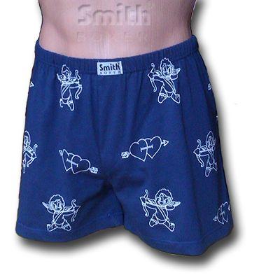 SmithBoxer fehérnemű Ámor mintás kék pamut boxer alsónadrág M, L, XL és XXL méretben megvásárolható a webáruházunkban: www.smithwebshop.hu