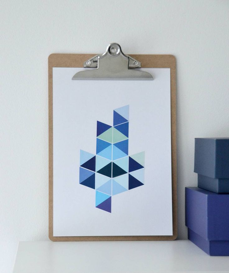 «GRAFISK // Her kommer årets første DIY-tips fra meg!  Du kan nemlig lage knallfine grafiske bilder/kort ved å bruke klistremerker i ulike farger og…»