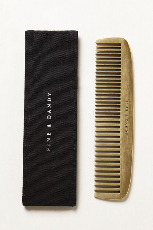 """The Fine & Dandy Comb. As I've grown up and out of my perpetually shaved head phase, I appreciate a nice head of hair, but it can be hard to manage…"