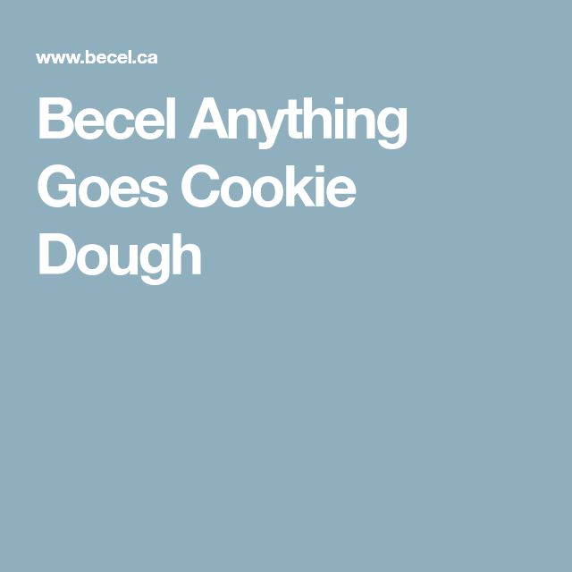 Becel Anything Goes Cookie Dough