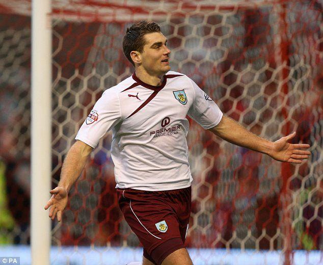 Sam Vokes celebrates scoring from the penalty spot