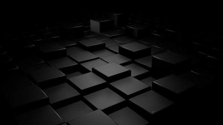 Black & Blue Cubes High Resolution   Wallwalls.com