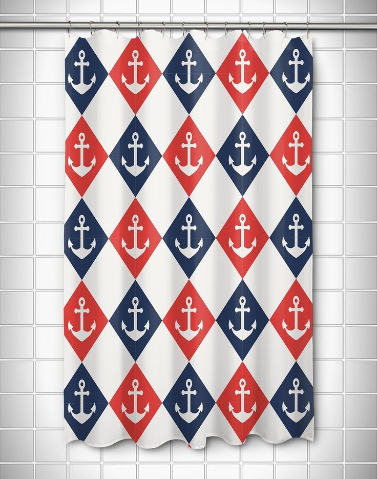 Captains Key Anchor Shower Curtain