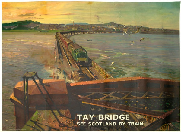 Tay Bridge, Artwork by Terence Cuneo, 1957.