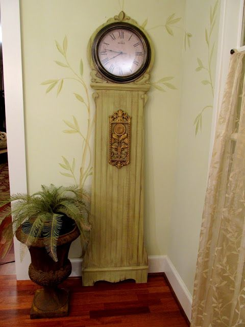 My Pier 1 Inspired Trompe Lu0027oeil Grandfather Clock Is