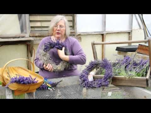 How To Make A Lavender Wreath - YouTube