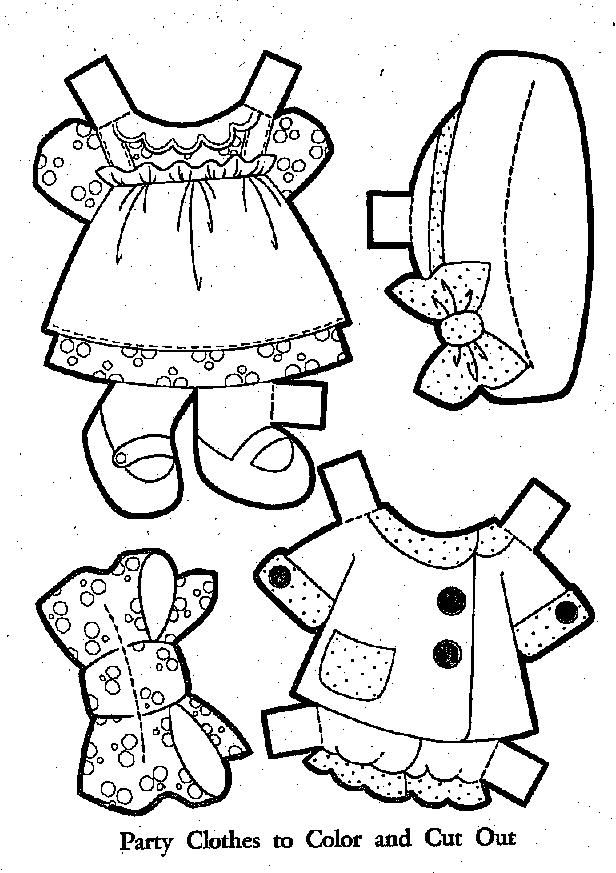 40 Paper Dolls Coloring Pages Baby Doll Clothes Colouring