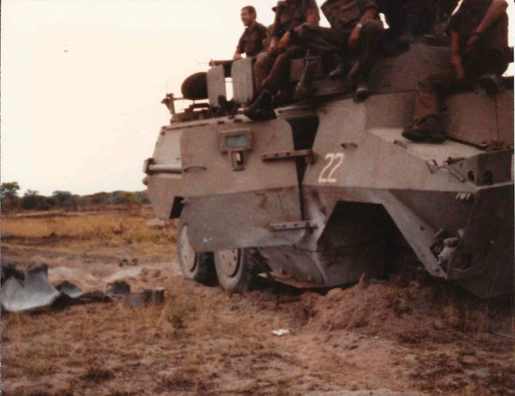 This Ratel hit a landmine at Ops Daisy