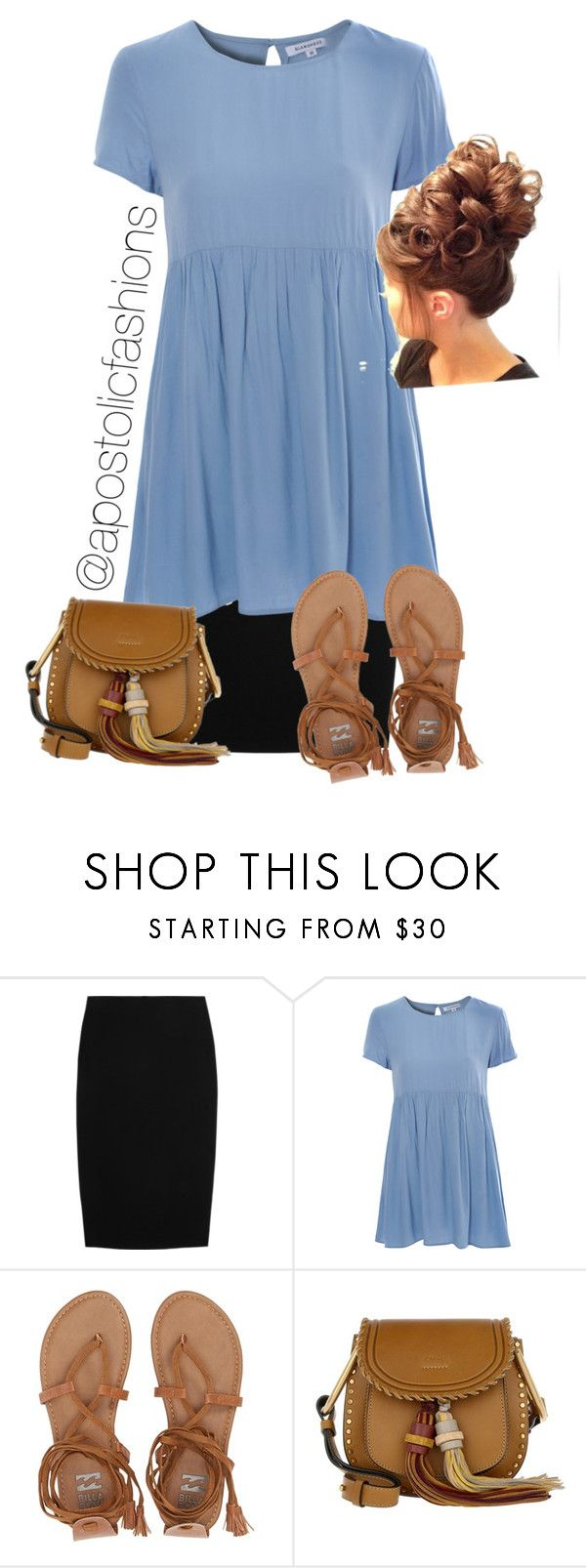 """""""Apostolic Fashions #1709"""" by apostolicfashions ❤ liked on Polyvore featuring Alexander McQueen, Glamorous, Billabong and Chloé"""