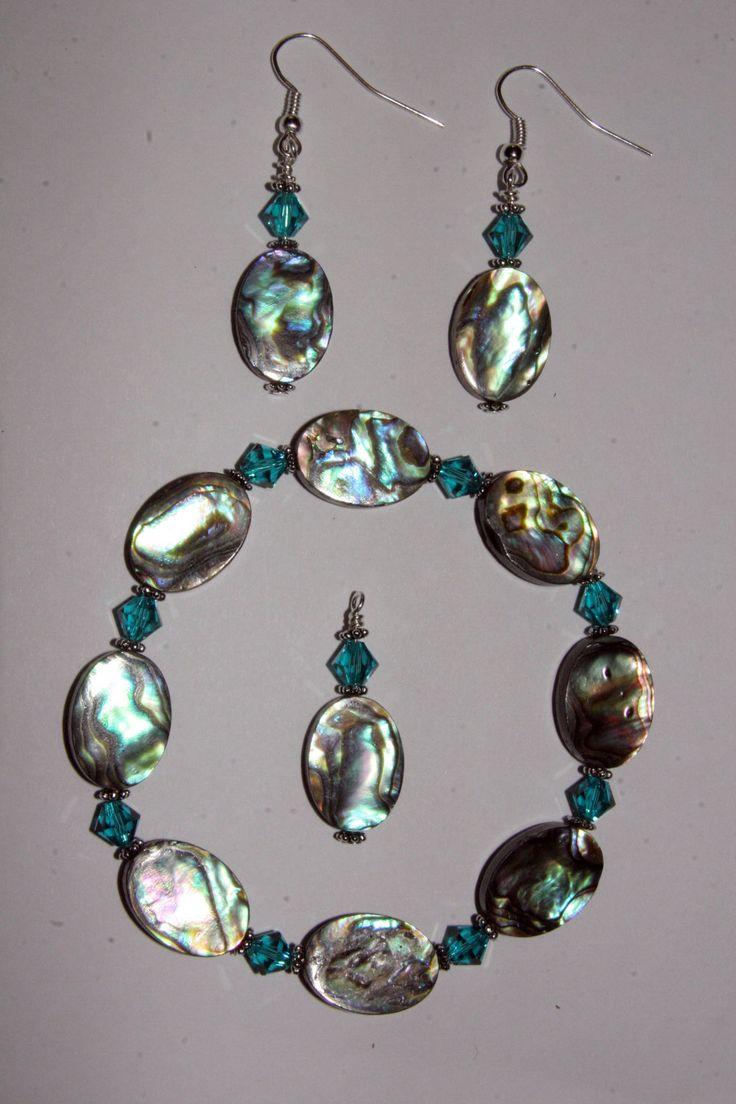 Abalone Jewelry Set. $40.00, via Etsy.