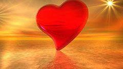 free red heart wallpaper desktop background image
